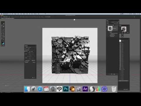 Photoshop - how to create a quick city skyline using 3D (Intermediate) tutorial