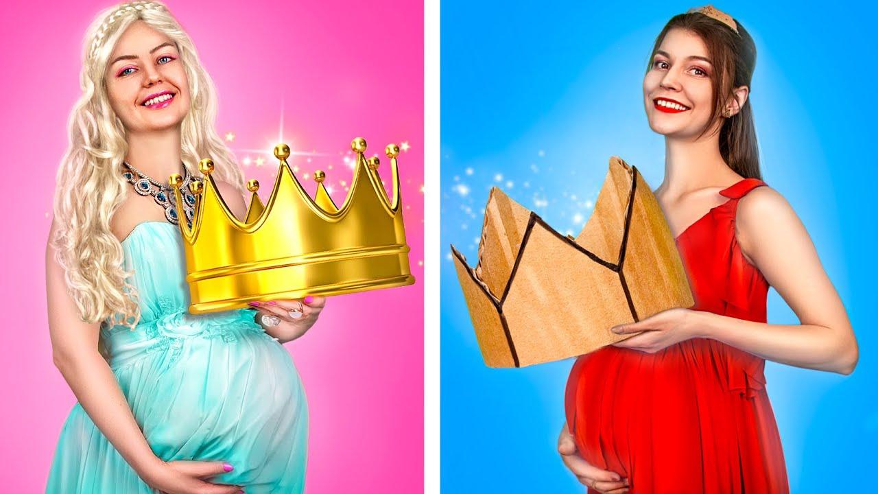 Rich vs Broke Pregnant Princesses