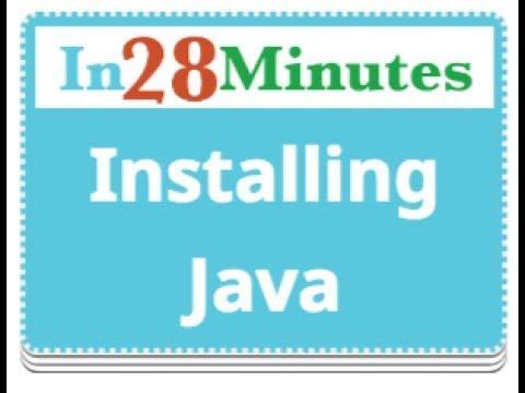 1 - Installing Java JDK