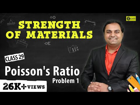 Poisson's Ratio - Problem 1 - Stress and Strain - Strength of Materials