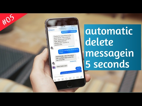 #05 After send a message deleted automatically with in 5 Second(facebook Messenger)