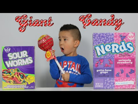 Giant Candy Chupa Chups Lollipops Giant Gummy Sour Worms Nerds Sweets Tasting Ckn Toys
