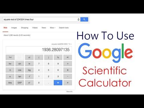 How To Use Google Scientific Calculator