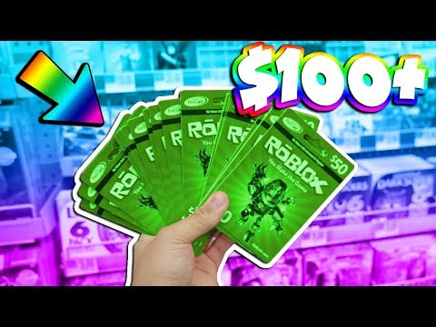 BUYING $100+ WORTH OF ROBLOX GIFT CARDS! (CHOOSE WHAT I BUY)