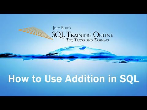 SQL Add - How to Use Addition in SQL Server - SQL Training Online