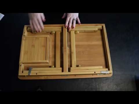 Songmics Natural Bamboo Laptop Table Review, Sturdy and strong with a great smooth finish