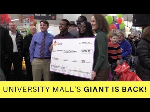 University Mall's Giant Store Grand Opening