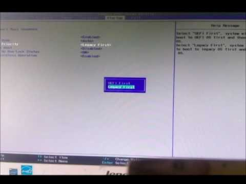 Boot Lenovo/ Arrancar desde USB/Formateo
