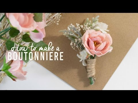 DIY Basic Boutonniere | Super Simple!
