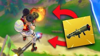 CAN YOU SHOOT A GUIDED MISSILE WHILE ROCKET RIDING?!   Fortnite Battle Royale