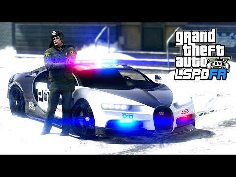 GTA 5 - LSPDFR Ep421 - Bugatti Patrol in the Snow!!