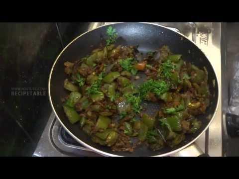 Capsicum Masala in Telugu Vantalu (కాప్సికం మసాలా)