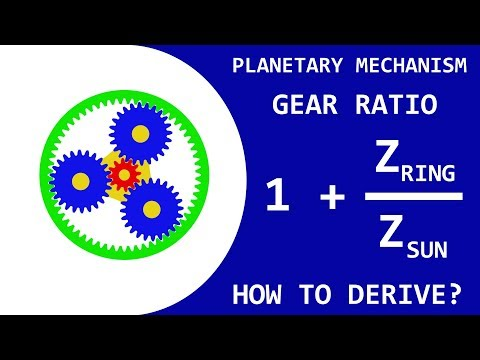 Tutorial: How to Derive the Formula for the Planetary Mechanism Gear Ratio