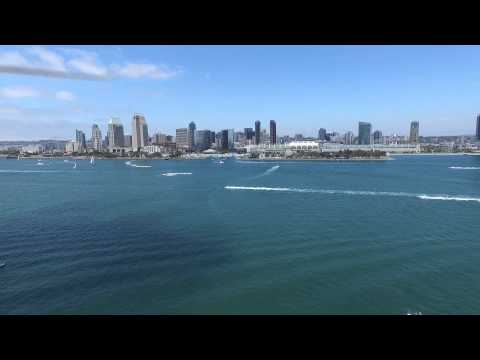Coronado Island Ferry Beach, San Diego CA - DJI Phantom 3 Advanced