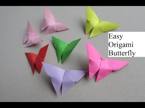 How to make easy origami butterfly step by step tutorial (Craft)| Cindy DIY