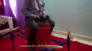 Man Quadcopter drone Home made testing