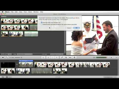 iMovie Tutorial: Add Transition Automatically