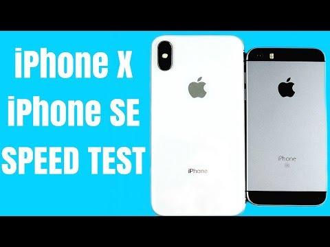 iPhone X vs iPhone SE (Speed Test)