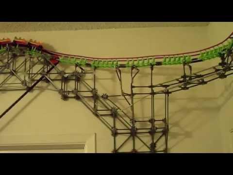 K'nex Roller Coaster Building Itself