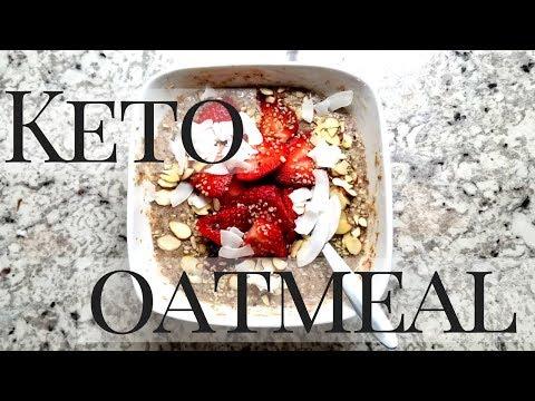 Keto & Vegan 2 Minute Oatmeal | Low Carb Porridge | Keto Breakfast Recipes