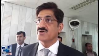 Khawaja Asif meet CM Murad Ali Shah after National Economic Council Session