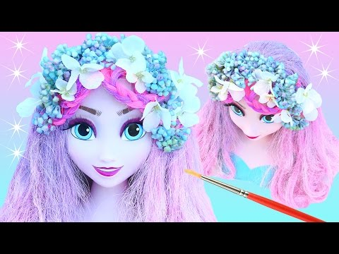 FROZEN ELSA LILAC PINK PASTEL HAIR MAKEOVER BOHO FLOWER Head Piece Princess Color How to Make