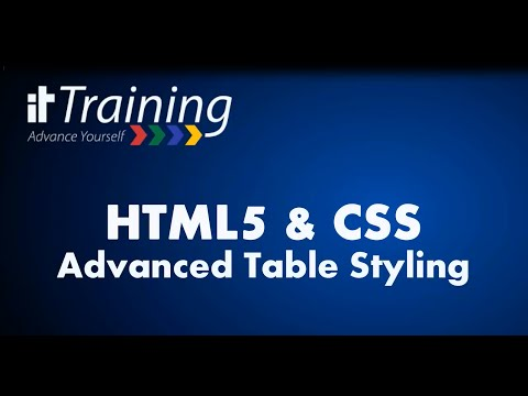 HTML5 & CSS: Advanced Table Styling (Alternating Row Background Color)