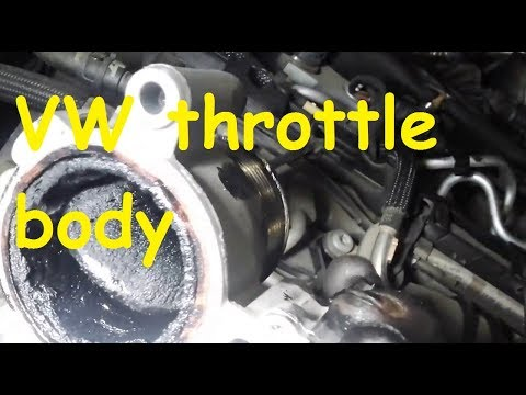 VW Throttle Body problems /Throttle body Removal and Cleaning