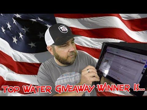Top Water Giveaway Winner is.....