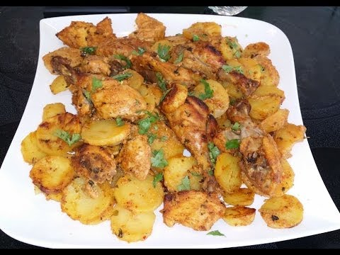 Roasted Chicken and Potato Bake / Cook With Saima