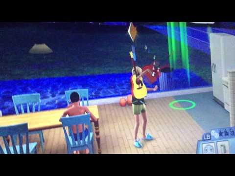 Funny glitch sims 3(Xbox)