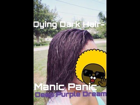 Dying Dark Hair- Manic Panic Deep Purple Dream