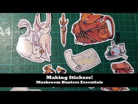 Making stickers! Mushroom Hunters Essentials