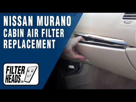 How to Replace Cabin Air Filter 2011 Nissan Murano