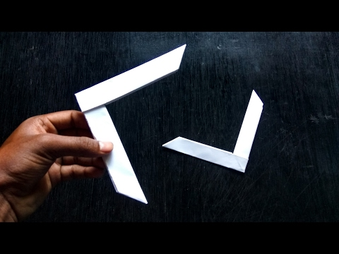 Boomerang Paper - How to Make a Paper Boomerang