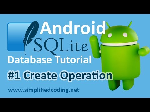 #1 Android SQLite Database Tutorial - Create Operation