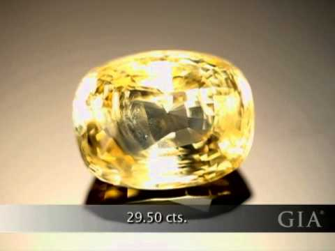 Yellow Sapphire From Sri Lanka, by GIA