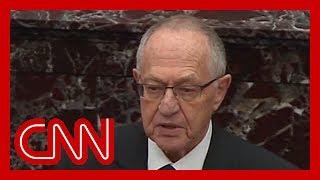 Alan Dershowitz defends President Trump on Senate floor