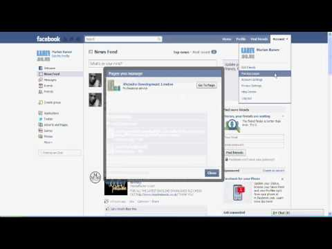 How to add an administrator for a Facebook created page.