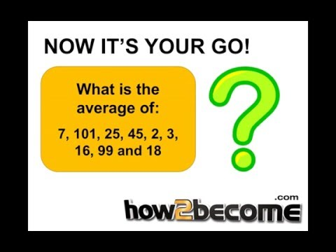 How To Calculate The Average Of A Group Of Numbers