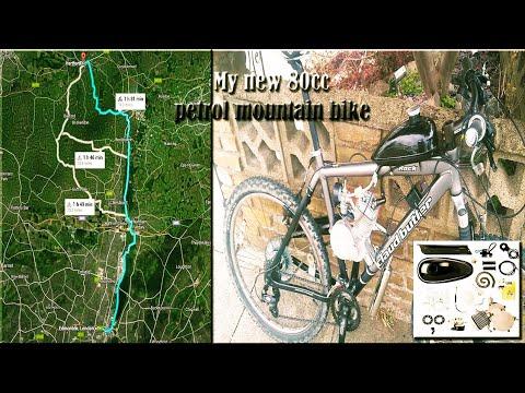 80cc Motorized bike ride from Edmonton to Hertford