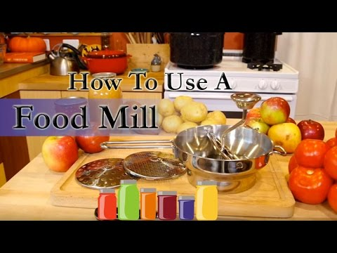 How to use a Food Mill