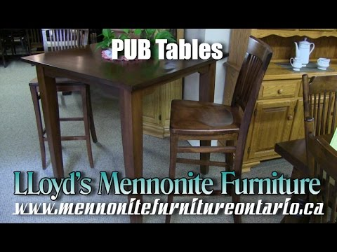 Maple Pub Table and Chairs, Wood Bar Furniture Toronto Ontario.