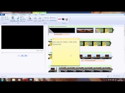 QsV: Converting a windows live movie project to WMV to upload