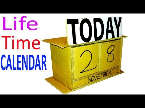 How To Make a Life Time CALENDAR Out of Cardboard for daily Life Hack - Diy At Home