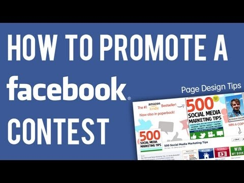 How to Promote A Facebook Contest - Page Design Strategy