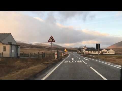A835 Inverness to Ledmore via Ullapool entire length time lapse