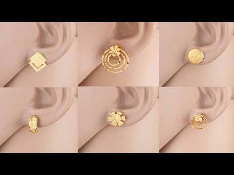 Latest Gold Ear Stud Designs