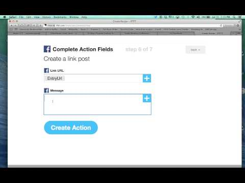 How to post an RSS to Twitter and Facebook using IFTTT.com