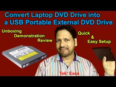 Convert Laptop   Internal DVD drive into USB External   Portable drive   2017